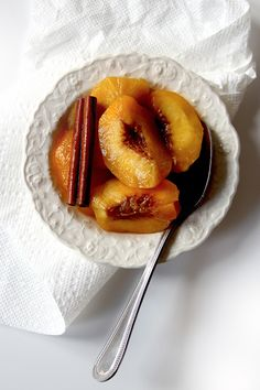 Pickled Peaches-- These peaches are a pleasure to eat in autumn—but make them only in summer peach season, with fruit that's fully ripe but not too soft.