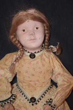 Antique Doll Schoenhut Wood Carved Doll Pretty Character