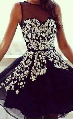 Short Homecoming Dress,Black Princ