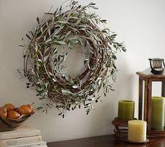 Harvest Olive Wreath #potterybarn