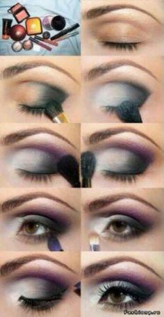Here's a nice four step smokey eye