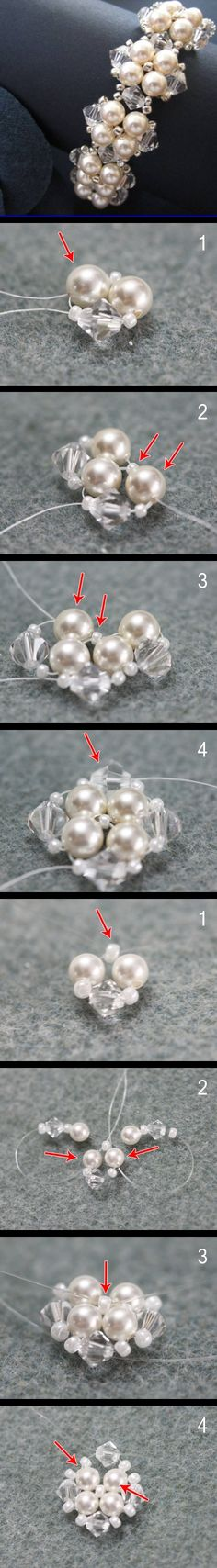 Use a clear beading thread to DIY your beautiful jewelry. Bead Jewellery, Seed Bead Jewelry, Wire Jewelry, Jewelry Crafts, Jewelery, Handmade Jewelry, Beaded Bracelet Patterns, Beaded Necklace, Seed Bead Bracelets