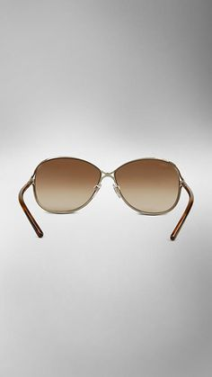 Metal Round Frame Sunglasses | Burberry