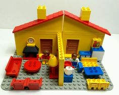 #Vintage lego #duplo house #figures and accessories, View more on the LINK: http://www.zeppy.io/product/gb/2/172482954061/