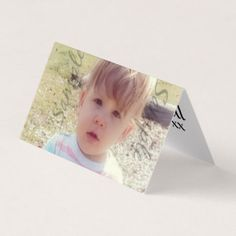 Add Your Photo and Text Card | Sample image is of my grandson, Michael Paul ~ Gina Lee Manley ©gleem | This folded card is 100% customizable!
