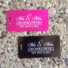 Personalized Wedding Gift, Newlywed Present, Honeymoon Gift, Mr and Mrs Luggage Tags, Destination Wedding, Luggage Tags Personalized    Our