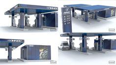 3D модель АЗС разработка фирменного стиля компании