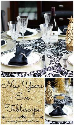 New Years Eve Tablescape www.refashionablylate.com