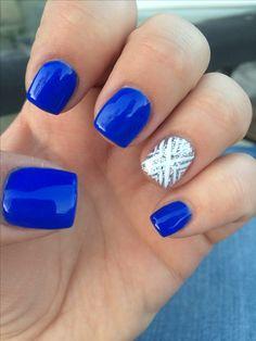 Cute gel nails by Courtney m