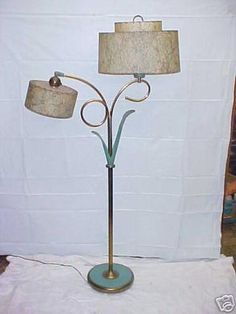 Hello, up for auction is this super nice 63  floor lamp with fiberglass shades, the fiberglass shades are in excellent condition. Shipping will be $80 in the lower 48 or it can be picked up in Lima, O Lamp Light, Light Up, Retro Lighting, Cool Lamps, Vintage Lamps, Art Decor, Home Decor, Floor Lamp, Mid-century Modern