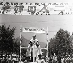 Photo by Chung,Bum-Tai 1959 Seoul (Korean Beauty Queen was on the Parade)