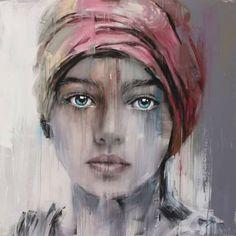 Pinned onto Art Board in Art Category Watercolor Art Face, Acrylic Painting Lessons, Portrait Art, Face Art, Art Techniques, Figurative Art, Art Pictures, Art Girl, Amazing Art
