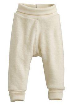 - Wollfrottee-Hose aus reiner Bio-Merinowolle