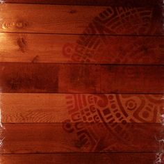 Wood panel wall with stencil!