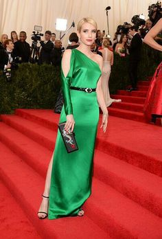 Yes for green!!!  Emma Roberts - Met Gala 2015