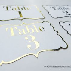 gold foil table numb