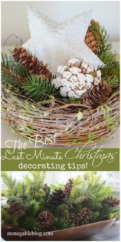 Oh my gosh… There are only 2 weeks until Christmas!!!!! If this facts makes you scream, panic, faint, stress out, want to eat a gallon of ice cream, cry, hide or makes you queasy… then you will want to read this! I have some easy last minute decorating ideas for anyone who feels that Christmas …