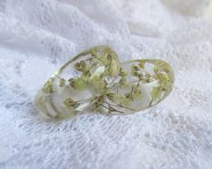 Resin Band Ring Real Baby's Breath Resin Ring by ELcreations1