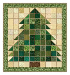 Learn the Art of Rag Quilting with These Free Patterns: Christmas Tree Rag Quilt