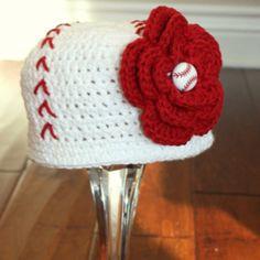 Baseball beanie for baby, I want!!!
