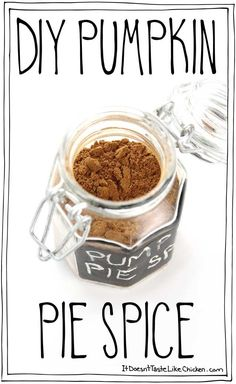 DIY Pumpkin Pie Spice is so easy to make, just add the 5 ingredients to a jar, shake, and you're done! This homemade recipe is perfect for when you run out, or when the store is sold out. Bonus points: it's even better than the store-bought spice. #itdoesnttastelikechicken