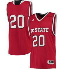NC State Wolfpack adidas Replica Basketball Jersey - Red - $74.99