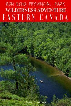 Bon Echo Wilderness Adventure in Bon Echo Provincial Park, Ontario, Canada.