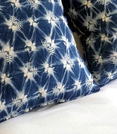 Shibori technique --> cushion covers