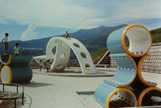 Curator and artist Fan Lok Yi, a recipient of the 2018 M+ / Design Trust Research Fellowship, looks at the history of playgrounds in Hong Kong. Modern Playground, Playground Design, Swing And Slide, Water Play, Urban Furniture, Abstract Sculpture, Outdoor Play, Urban Landscape, Landscape Architecture