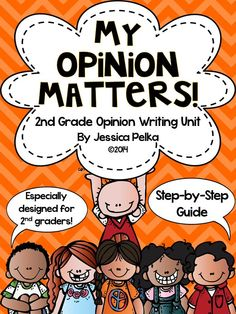 My Opinion Matters! Detailed, step-by-step unit on how to teach opinion writing to 2nd grader packed full with mini-lessons, writing templates, and background information for the teacher. $ #opinionwriting #writersworkshop