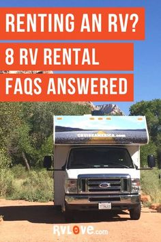 We answer 8 frequently asked questions about RV rentals in this blog post and video, like.. Will my car insurance cover my RV rental? What's included? What types of RVs can you rent? How many miles can you drive in a rental RV? and more. Read the blog post for these answers and more. #rvrental #rvlife #rvtravel #rentrv Travel Money, Rv Travel, Prevost Bus, Best Rv Parks, Rent Rv, Rv Checklist, Class C Motorhomes, Small Rv, Rv Rental