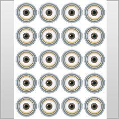 INSTANT DOWNLOAD Minion Eyes  2 inch   Birthday por LuLuLoLa2022