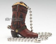 """Cowboy Style Ceiling Fan Chain Pull 2"""""""" -Boot (cp3)"""