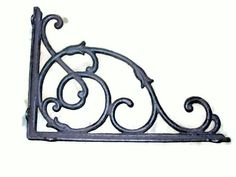 Set of 2 Large Cast Iron Vine Brackets *** Click image for more details.-It is an affiliate link to Amazon. #WallSculptures