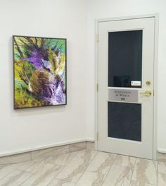 Office lobby, paintings by Soraya Silvestri. Ottawa artist, Canadian artist, abstract painter.