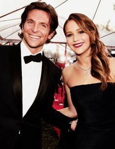 Pin for Later: 24 Reasons Jennifer Lawrence and Bradley Cooper Should Just Get Married Like the 2013 SAG Awards were prom night. Bradley Cooper, Pretty People, Beautiful People, Jennifer Lawrence Photos, Brad And Angelina, I Volunteer As Tribute, Weak In The Knees, Sag Awards, Hooray For Hollywood