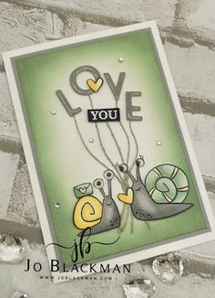 Snail Cards, Card Tags, Card Boxes, Animal Cards, Heart Cards, Stamping Up, Creative Cards, Anniversary Cards, Projects To Try
