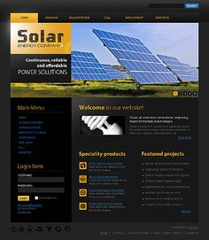 Solar Energy Joomla Templates by Glenn