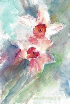 Frühling / Springtime / Primavera / Printemps / 春天 Abstract Art, Flowers, Painting, Watercolour, Watercolors, Spring, Painting Art, Paintings, Flower