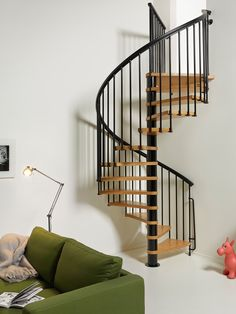 Creative Staircase Kits Design for Small Spaces Ideas - Professional Home Decor Spiral Staircase Kits, Staircase Design, Spiral Staircases, Modern Staircase, Stair Kits, Loft Stairs, Balcony Railing, Wooden Stairs, Stairways
