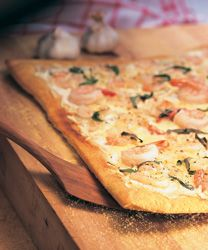 Shrimp Scampi Pizza | Healthy Recipes By Food Category: Fish and Seafood | Froedtert & the Medical College of Wisconsin