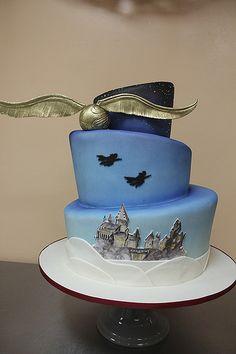 Harry Potter Wedding Cake by Amanda Oakleaf Cakes, via Flickr
