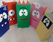 Little monster party bags