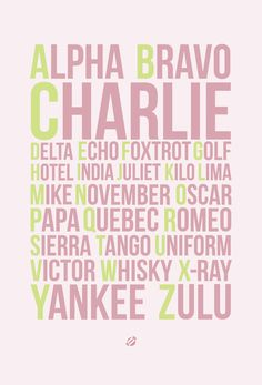 LostBumblebee: Do YOU know your Alpha, Bravo, Charlies ??