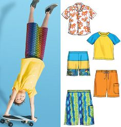 BOYS CLOTHES PATTERN / Make Skirts TShirt by WhatCameFirst