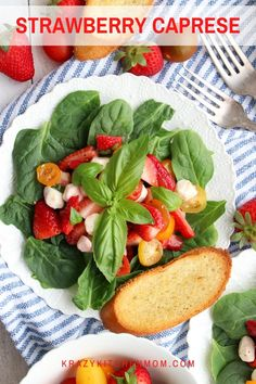 A traditional cypress salad dressed up for spring and summer by adding ripe juicy strawberries. It's perfect for any spring or summer gathering.