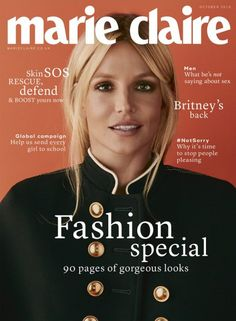 BRITNEY SPEARS for MARIE CLAIRE October 2016