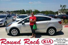 Congratulations to Melanie Lopez on your #Kia #Rio purchase from Roberto Nieto at Round Rock Kia! #NewCar