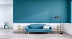 Le salon bleu canard en décoration Style Deco, Decoration, Bleu Turquoise, Home Decor, Blue And White Living Room, Blue Shed Furniture, Decor, Decoration Home, Room Decor