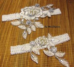 Wedding Garter, Bridal Garter set, Keepsake & Toss Garter, Silver thread embrodery,Crystal and pearls garter. R-L-XL Stretchy Bridal garter Blue Garter, Wedding Garter Set, Star Wedding, Something Blue, Embroidered Lace, Fascinator, Bridal, Crystals, Pearls